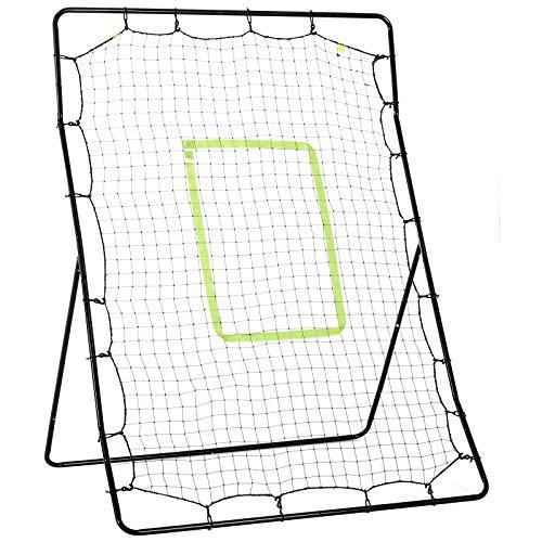 HOMCOM Unisex, Jugendliche Rebounder Netz für Kinder und Erwachsene, Fußballspiel, Baseball-Trainingshilfe, Schwarz, Einheitsgröße
