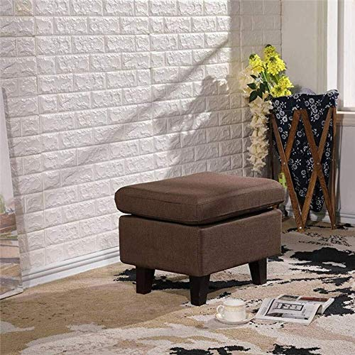 CHU N1 Stoff bezogen Fußbank, Holz 4Legs Pouffe Hocker Sofa Ändern Schuhmöbel 75 × 44 × 40 cm (L × B × H) 122 (Color : 9, Size : 75cm)