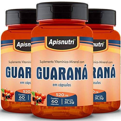 Kit 3 Guaraná Apisnutri 60 cápsulas