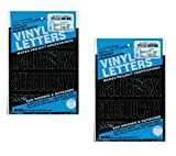 Duro Decal Permanent Adhesive Vinyl Letters & Numbers: 2' Gothic Black (Pack of 2)