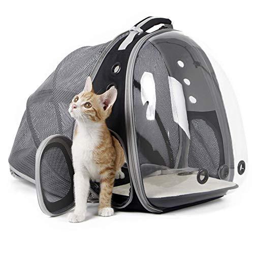 Moligin Zaino Espandibile Elemento Portante del Gatto, Capsula Spaziale Trasparente Bolla Pet Carrier Accessori per Il Piccolo Cane, Animale Domestico Escursionismo Zaino di Viaggio