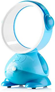 RYSB Oficina Silencioso Portátil Ventilador De Mesa,USB Enfriamiento Ventilador,Ventilador Sin Aspas,Torre Ventilador,Mano Mini Ventilador Sin Cuchilla Azul 22x13cm(9x5inch)