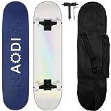 AODI 31 Inch Skateboards for Beginners, Pro Complete Skateboard Canadian 7 Layer Maple Wood Kick Cruiser Standard Skate Board Designed for Kids Teens &...
