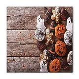 Soefipok Pañuelo de Halloween, arte de galletas de jengibre divertido, cabeza y corbata unisex, venda de la cabeza