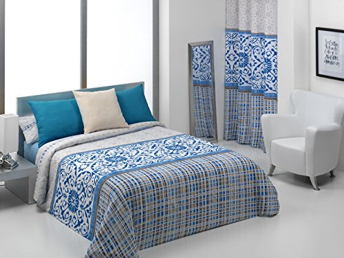 Quilt & CO Nelas Bettwäsche-Set para cama de 180 cm, 270 x 220 cm blau