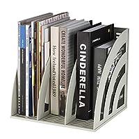 Funien ファイルホルダー、マガジンファイルホルダーデスクファイルオーガナイザーオフィススクールホームオーガニゼーションおよびストレージファイルフォルダーラックボックス、3つのコンパートメント大容量本棚ブックスタンドステーショナリー用品