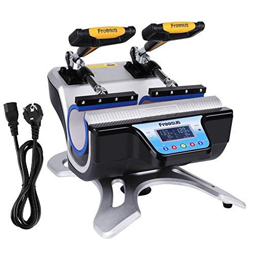 220V Automática Estaciones Dobles Mug Heat Press ST-210 Impresión por Transferencia de Sublimación