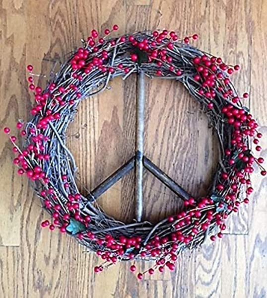 Red Berry Peace Sign Wreath Peace Wreath