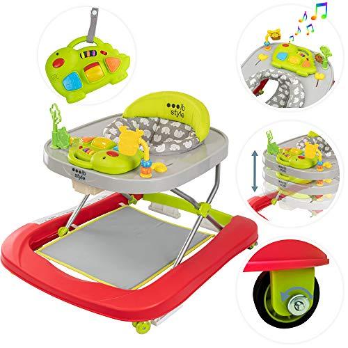ib style® Little DINO loopstoel babywalker  loopwagen  licht en geluid EN 1273:2005  Colours