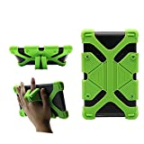 CHINFAI Universal 7 inch Tablet Case Shockproof Silicone Stand Cover for All Versions RCA Voyager Vankyo Yuntab Samsung Google Nexus MatrixPad Z1 Huawei 7' Android Tablet and More, Green
