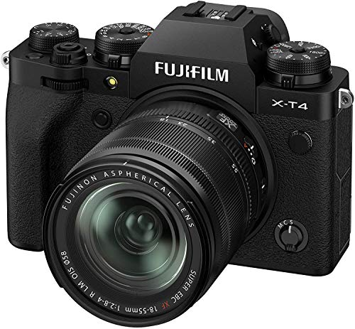 Fujifilm X-T4 Mirrorless Digital Camera XF18-55mm Lens Kit - Black