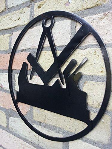 Metall-Design-Dithmarschen Zunftzeichen der Tischler aus 3mm Stahl mit den Maßen 30cm - 90cm (30cm)