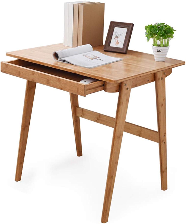 en stock Escritorio Escritorio Escritorio de la computadora Escritorio de bambú Simple Escritorio de Escritura casero Mesa de Comedor Simple (Color   marrón, Talla   80x60x75cm)  ahorra hasta un 80%