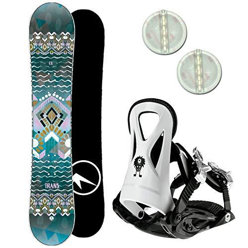Trans CU Girl Kinder Snowboard Set 2020~125 cm + JUNIOR BINDUNG GR. S + PAD