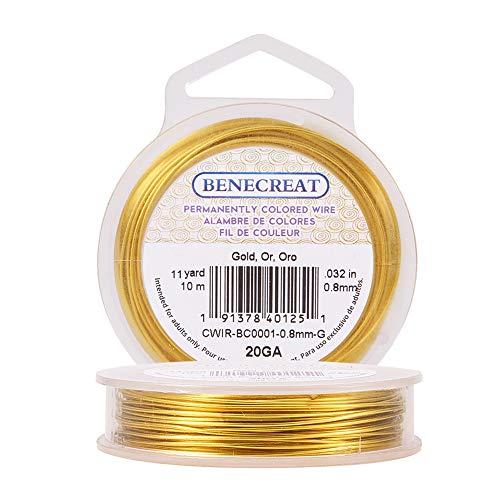 Benecreat - Alambre dorado resistente al desgaste, calibre 2