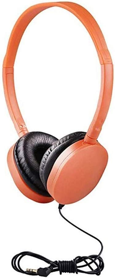 GGLLBL Kids Headphones Foldable Adjustable Wired Headphone Headset With 3.5mm Audio Jack For Children Mp3 Smartphone (Color : Red and Orange) Rose Pink 2 Pack