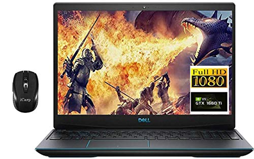 Premium Dell G3 15 3590 Gaming Laptop 15.6' 1080p FHD 9th Gen Intel Quad-Core i5-9300H (Beats i7-7700HQ) 8GB DDR4 512GB PCIe SSD 6GB GTX 1660Ti Max-Q Backlit HDMI Webcam Win 10 + iCarp Wireless Mouse