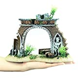 Feixunfan Ornamento para acuario, pecera, acuario, resina, paisajismo, pecera, decoración de pecera, manualidades para pecera (color: marrón, tamaño: talla única)