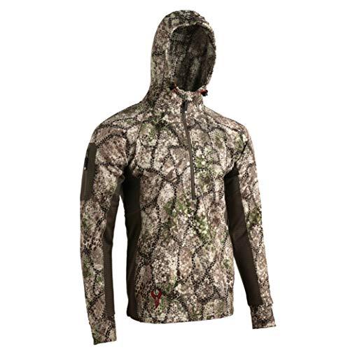 Badlands Flex 1/2-Zip Hoodie - Versatile Hunting Mid-Layer, Approach, Large