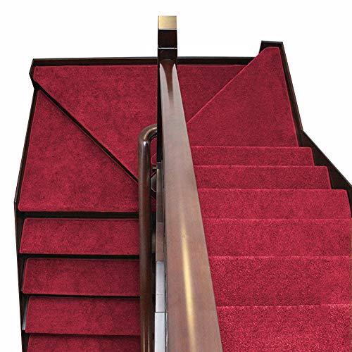 ZENGAI Copri Gradini for Scale Passatoie for Singoli gradini Collezione di scalini Interno Tappeto Antiscivolo Antiscivolo Battistrada 9 Colori (Set di 5) (Color : G, Size : 90cmx24cm)