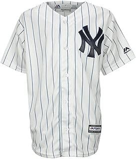 Majestic Big Kid's/Juniors New York Yankees White Major League Baseball Jersey (Large)