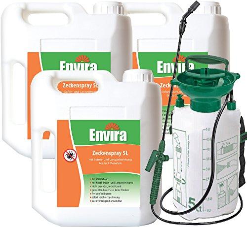 Envira Zeckenschutz Gift 3x5Ltr + 5Ltr Sprüher
