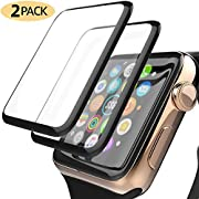 Apple Watch Screen Protector 2-Pack YJan Newest Tempered Glass 3D Film for iWatch 44mm Series 4 HD-Clear Ultra-Thin Full Coverage Screen Protector Compatible Apple Watch 44mm