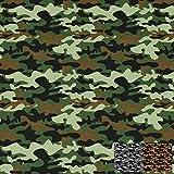 Baumwollstoff Kim Camouflage von Swafing, grün (50cm x