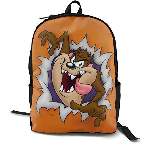 JINGYUSHANGMAO Looney Tunes Tasmanian Devil Taz Klassische Mode Kinder Praktische Schultasche F¨¹r M?nner Und Frauen