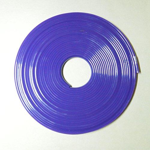[ハイパーソニック]リムガード リム ライン モール 8m タイヤ ホイール ガード キズ防止 キズ隠し カラー テープ DIY (パープル)