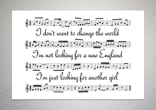 Billy Bragg – New England – Songblatt Kunstdruck – A4 Größe