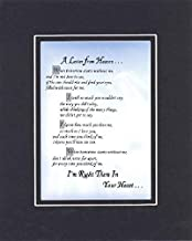 GoodOldSaying - Poem for Bereavement - A Letter from Heaven Poem on 11 x 14 inches Double Beveled Matting (Black On Black)
