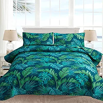 3Pcs Tropical Thick India Green Palm Leaves Qui...