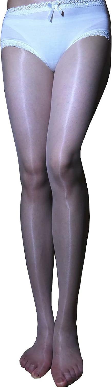 BEFASY Women's Sexy 1D Lace Sheer Pantyhose Ultrathin Silky Shiny Glossy Stockings Tights Oil Socks
