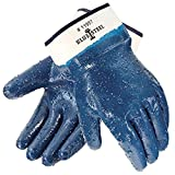 Durable rough nitrile coating for extra grip and protection to handle abrasive material Tough but flexible so that your hands don't tire so easily Jersey liner for comfort Resists grease and oils Great multi purpose gloves feature a great price