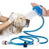 QuiCi Animali Domestici Cane Cat Kit detergente per Il Bagno da Bagno Lavaggio Massaggio Bagno Doccia Spruzzatore dell'Acqua