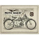 Nostalgic-Art Cartel de Chapa Retro de Moto Guzzi – 100 años Anniversary – Idea de Regalo para...