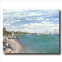 Claude Monet Tropical Beach Sailboat Landscape Wall Picture 16x20 Art Print