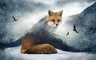 Fox Fabric Panel - Call of the Wild Digital Print - 27