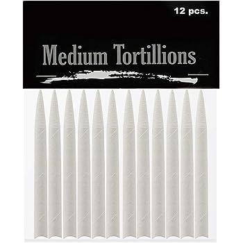 Creative Mark Blending Tortillions - Soft Paper Felts, Traditional Blenders Easily Sharpened or Sanded - [Set of 12 - Medium]