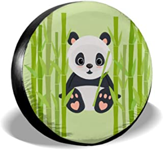 Chawzie Gaint Panda Eating Bamboo Tires Protector Cover for Tires Tire Cover Waterproof Uv Sun 14 - 17 Fit for Jeep Trailer Rv SUV and Many Vehicle