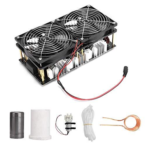 Bewinner1 2500W ZVS Modulo de Calentador de induccion Flyback Driver, PCB Placa de Calentamiento Radiador Grande con Tubo de Cobre en Espiral Crisol y Tubo de Bomba de Agua 12-48V