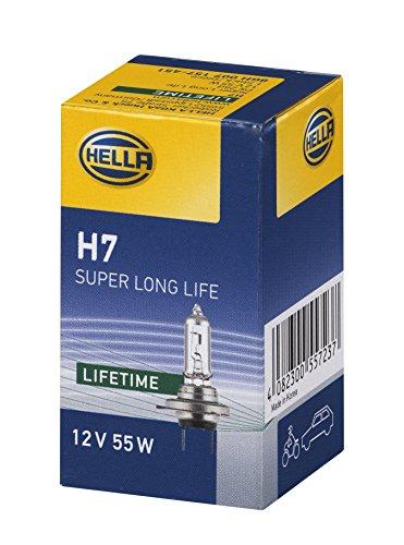 Hella 8GH 007 157-451 Glühlampe - H7 - 12V/55W - PX 26 d - Super Long Life