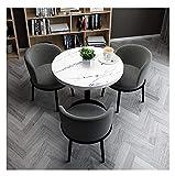 Conjunto de mesa de comedor para cocina o decoraci Tabla de negociación y silla Set Office Lounge Sala de reuniones Sala de reuniones Restaurante Restaurante Shopping Hall Corredor Dormitorio Milk Tea