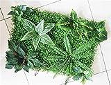 60 * 40 cm Falso Artificial Grass Milán Pared Fondo de Las Plantas de Hierba Artificial Boda Inicio Jardín Vertical de decoración decoración de la Pared (Color : Style 1)