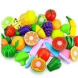BYFRI 8 Piezas de Juguetes de Cocina para Cortar Juegos de simulación, Juguetes para Verduras, Juguetes educativos para niños, niñas
