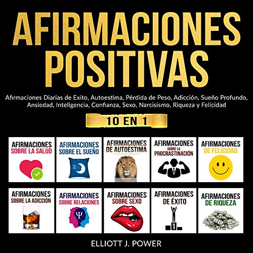 Afirmaciones Positivas: 10 Libros en 1 [Positive Affirmations: 10 in 1 Bundle] cover art