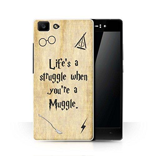 Hülle Für Oppo R5 Schule der Magie Film Zitate Life's a Struggle Design Transparent Ultra Dünn Klar Hart Schutz Handyhülle Hülle