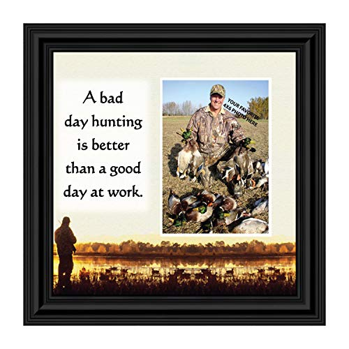 Crossroads Home Décor Bird Hunter Saying. Hunting Theme Picture Frame, 9705B