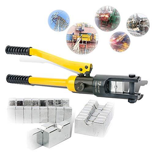 Auto parts Crimpadora hidráulica de Alambre con batería, alicates de Cable, crimpadora, Juego de Herramientas de prensado para terminales de Cable de Cobre y Aluminio,HHY-120A